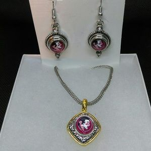 Jewelry - Florida Seminoles Necklace and Earrings Set